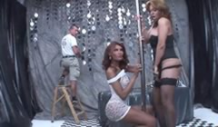 Joven electricista en un puticlub de travestis